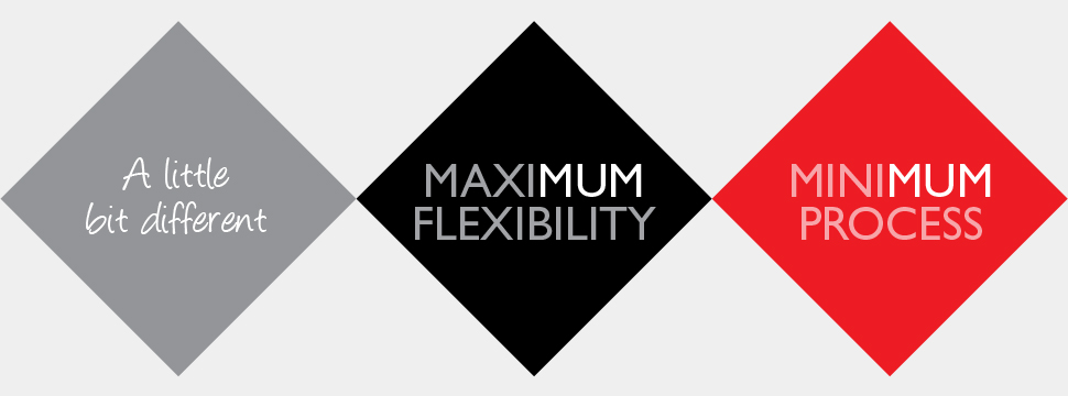 MaxiMUM Flexibility, MiniMUM Process